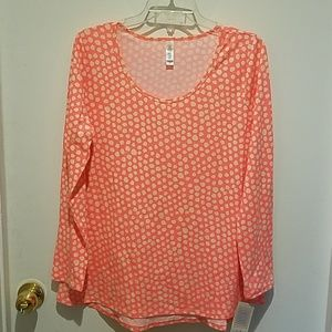 Lularoe Lynnae long sleeve shirt sz L